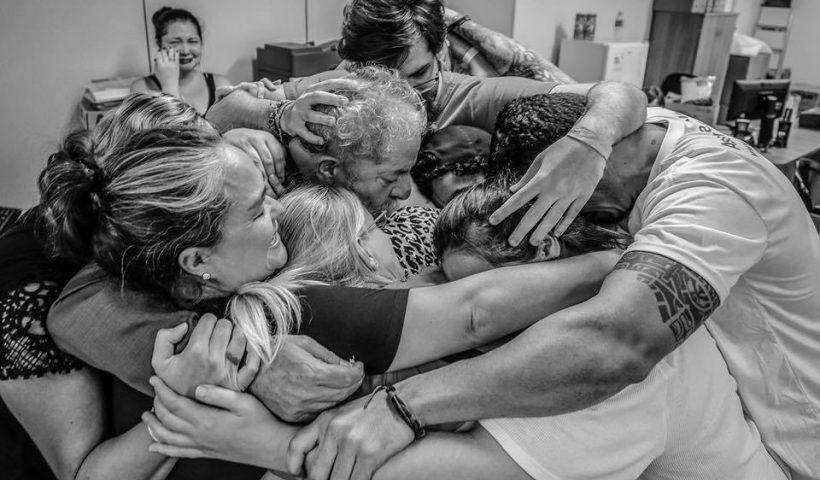 Despedida de Lula, abril de 2018, Sao Bernardo do Campo. Foto de Ricardo Stuckert.